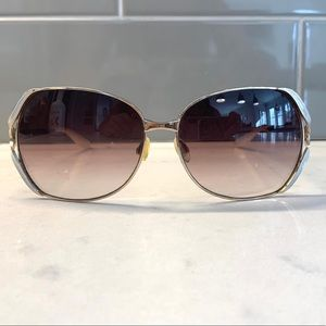 Barton Perreira Sunglasses Emanuelle 63 White Gold